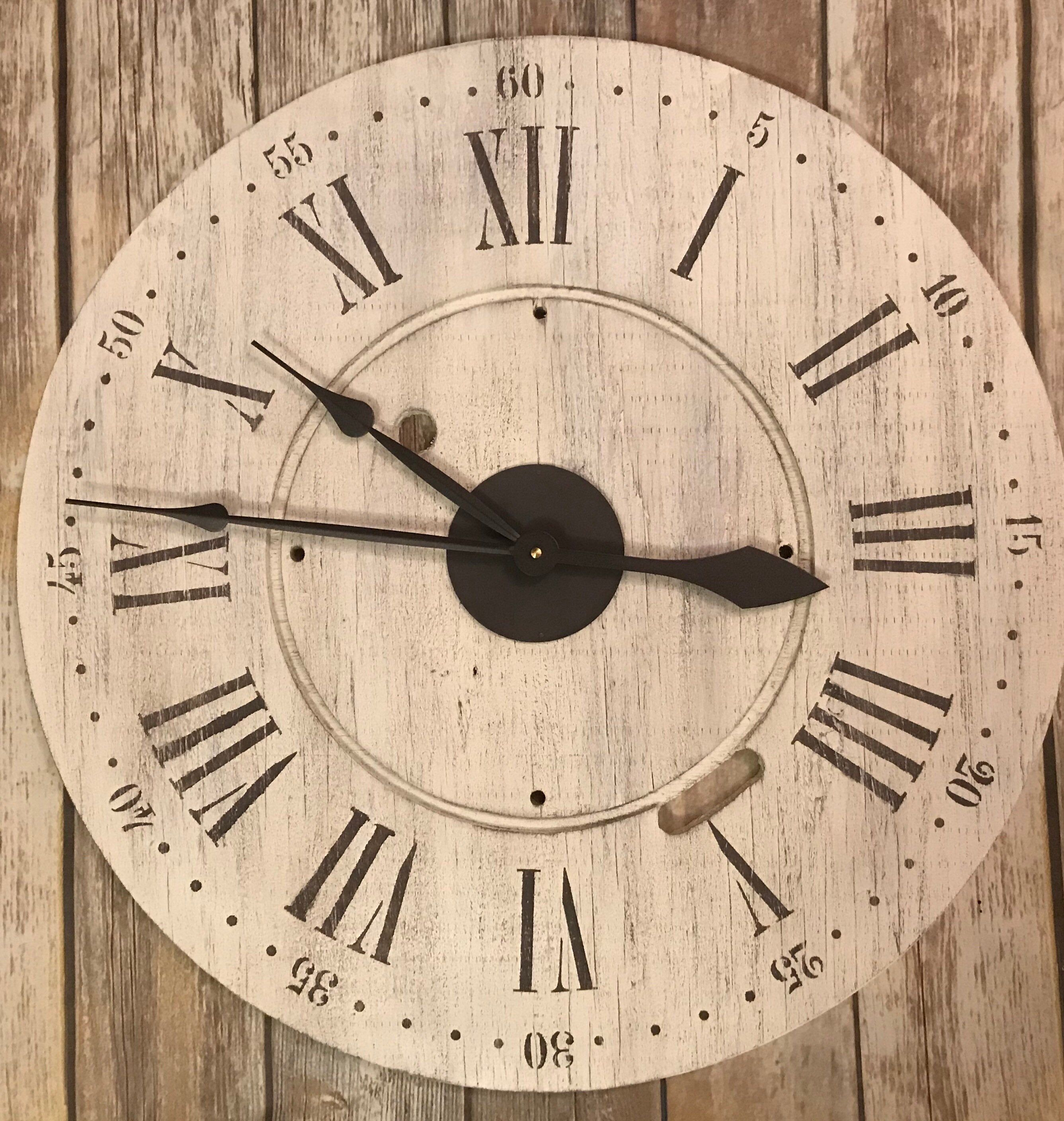 24 oversized wall clock farmhouse clock big clock