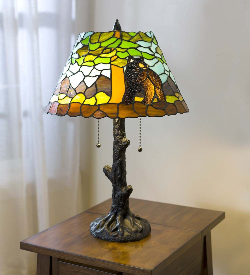 Calhoun tiffany glass table lamp lamps woodland charm meets calhoun tiffany glass table lamp lamps woodland charm meets tiffany style in this unique geotapseo Choice Image