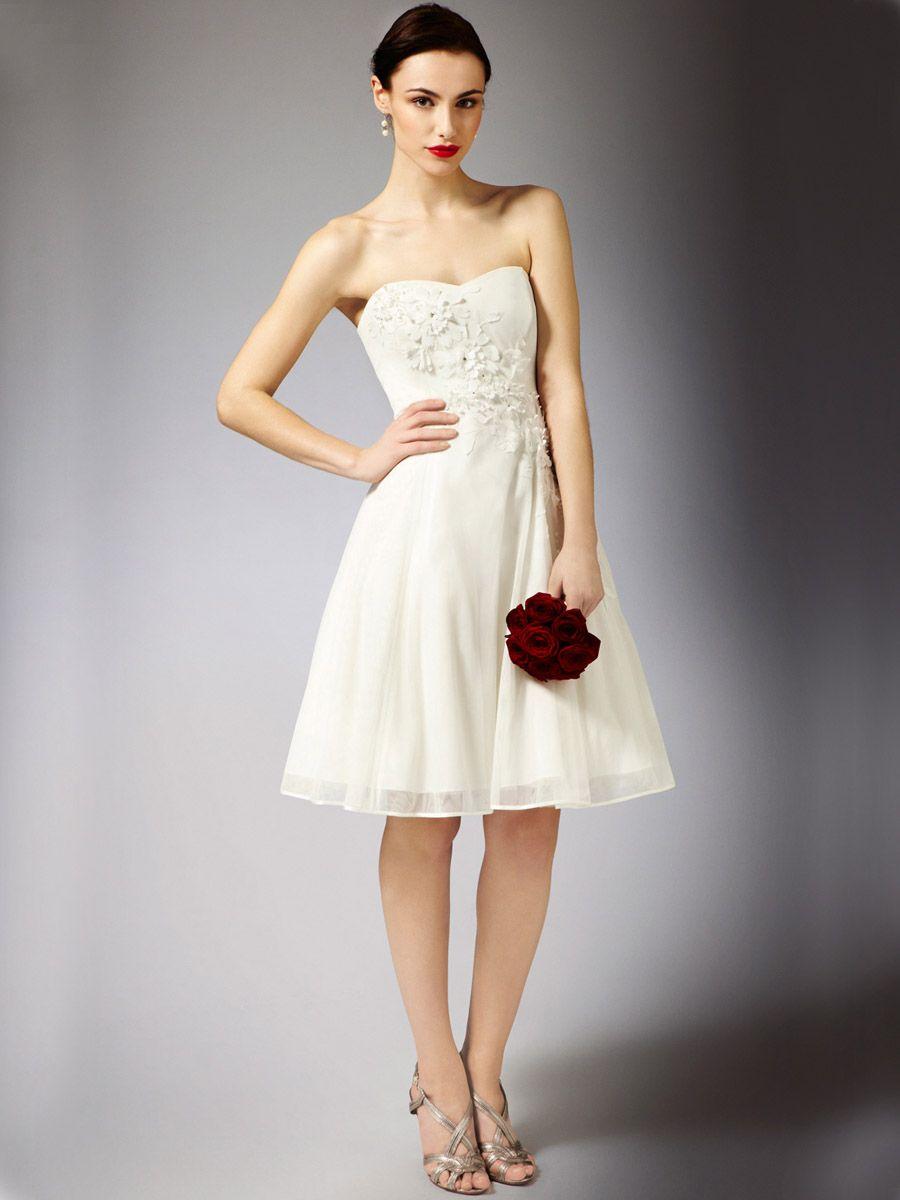 knee length sweetheart wedding dress