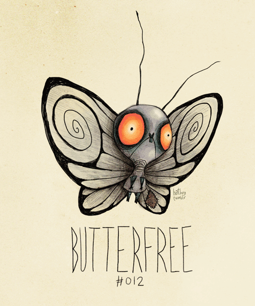 Pokemonzeichnungen inspiriert durch Tim Burtons Kunst #kreativehandwerke