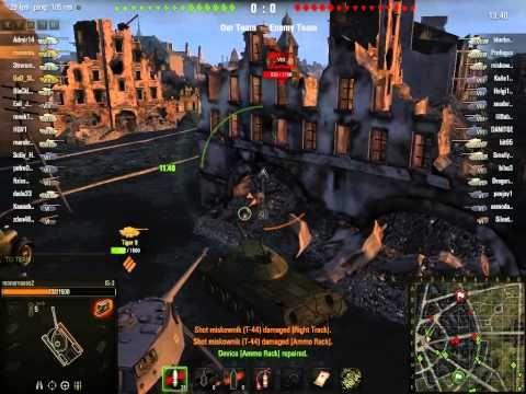 World of tanks Tiger II + Is3 Platoon Ruinberg on fire Gameplay 3 - YouTube