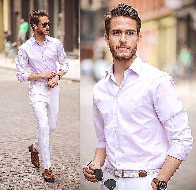 Männer Mode | Männer outfit, Outfits weiße hose und