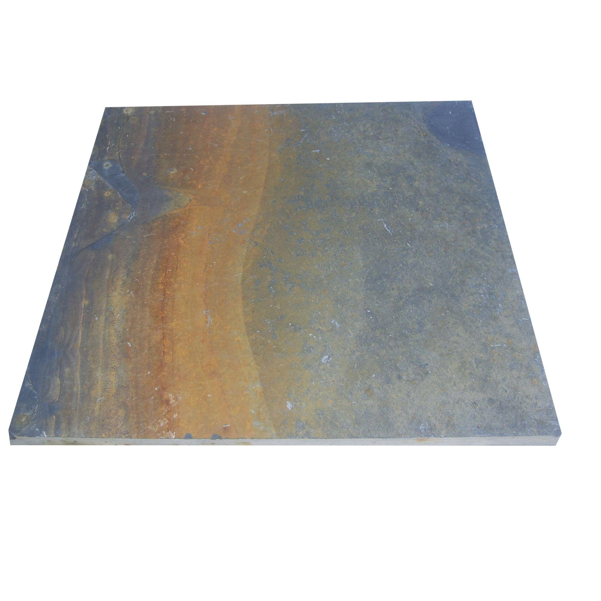 Terrastegel 60 x 60 x 2cm pallet roestkleur Tegels, Tuin