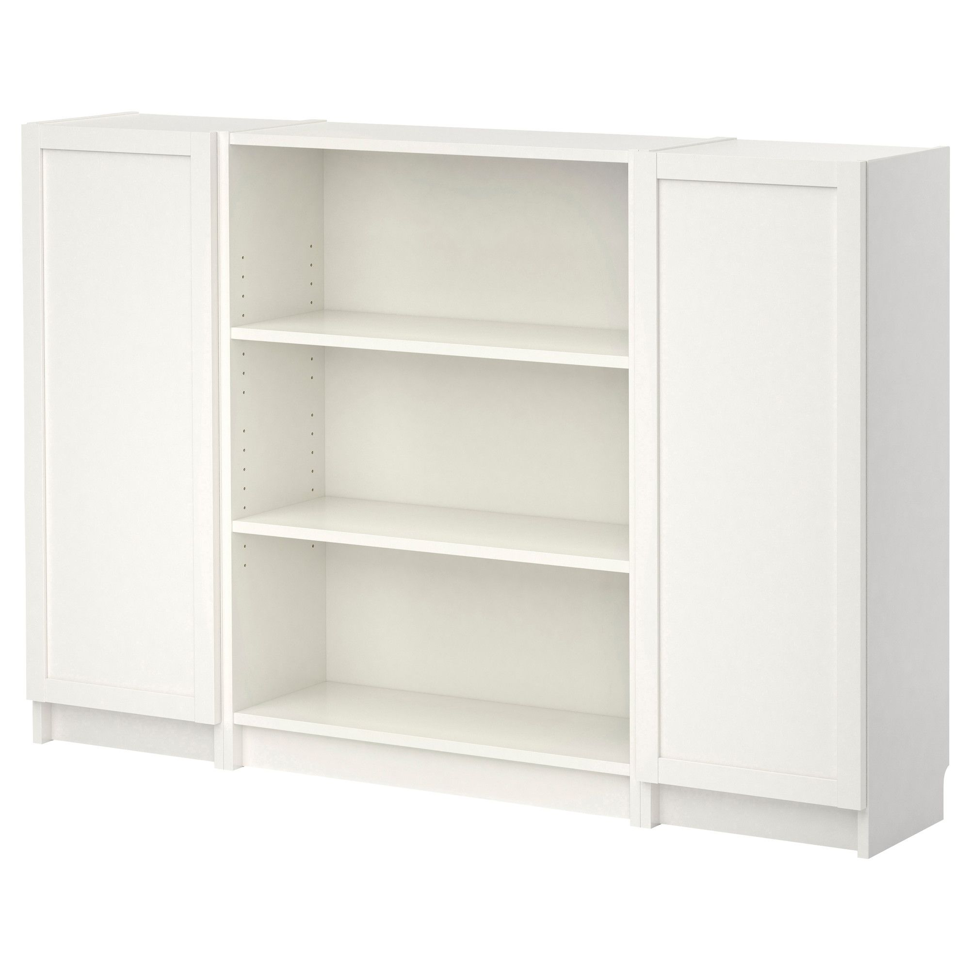 Ikea Libreria Billy Ante.Billy Libreria Con Ante Bianco Ikea Em Ikea Billy Bookcase