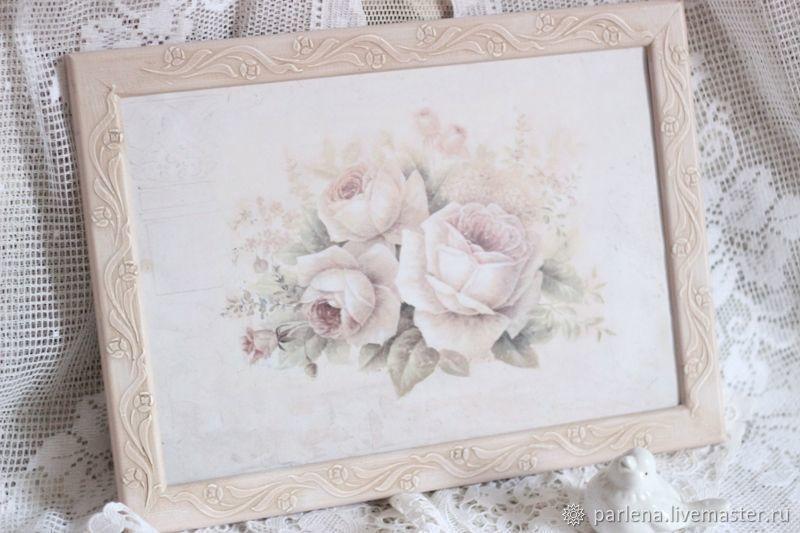 Рама для фото картины вышивки Шепот роз   Pinturas, Fotos