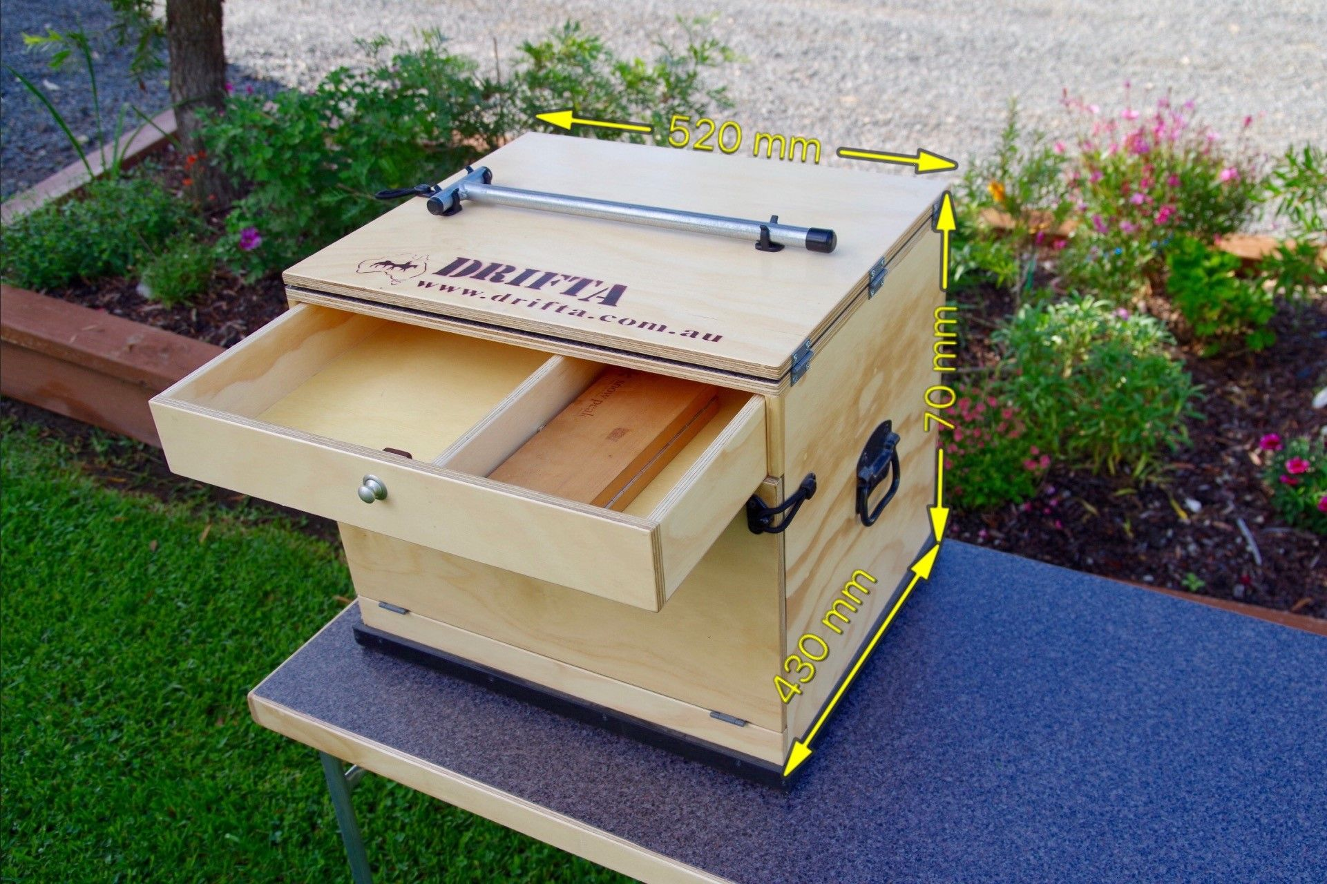Small Travel Kitchen With Lid Drifta Camping 4wd 520 Mm Wide 470 Mm High 430 Mm Deep 13 Kgs 335 Australisch Camping Chuck Box Diy Camping Camping Box