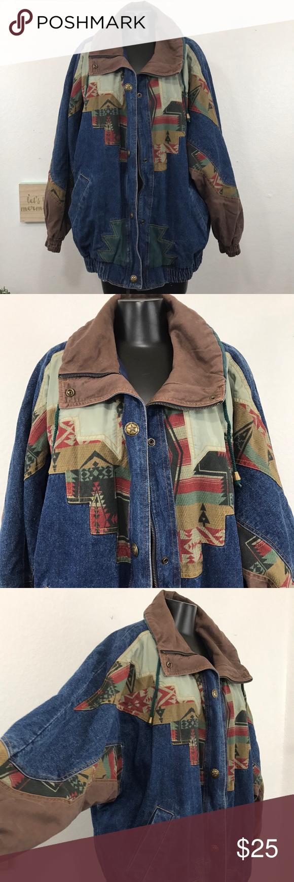 Vintage Genuine Izzi Jean Denim Jacket Size Large Denim Jacket Jackets Clothes Design [ 1740 x 580 Pixel ]