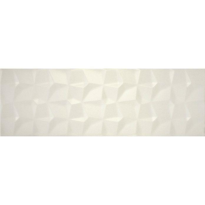 Wandfliese kimera new 20 x 60 cm weiß relief matt