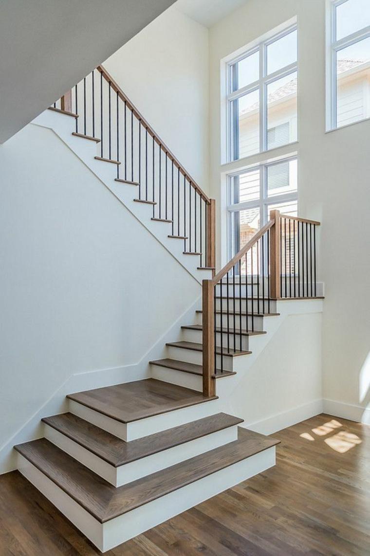 Wohnzimmer des modernen interieurs des hauses moderne innentreppe  wie man die richtigen handläufe wählt  haus
