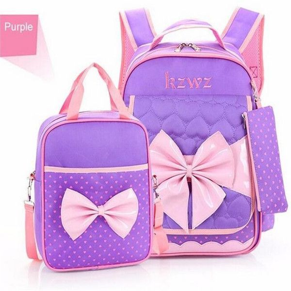 dfd2aa76f3 High quality Mochilas Schoolbags 2016 Children School Bags For Girls  waterproof nylon bow Backpack Kid Bag Girl Schoolbook Bag