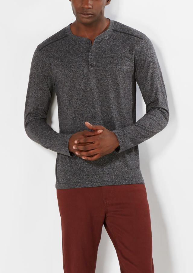 image of Charcoal Gray Henley Top