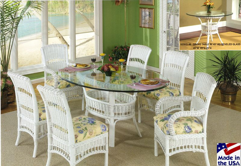 Pinpatricia Waller On Nana World  Pinterest Stunning Wicker Dining Room Sets 2018