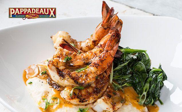 Pappadeaux Seafood Kitchen - Giant Shrimp & Grits | Food! | Pinterest | Pappadeaux seafood ...