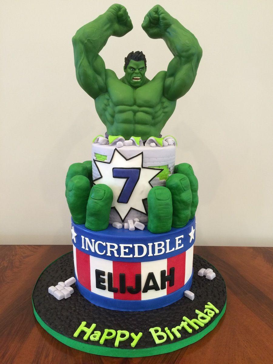 Terrific Incredible Hulk Cake Con Immagini Torte Supereroi Hulk Torte Personalised Birthday Cards Veneteletsinfo