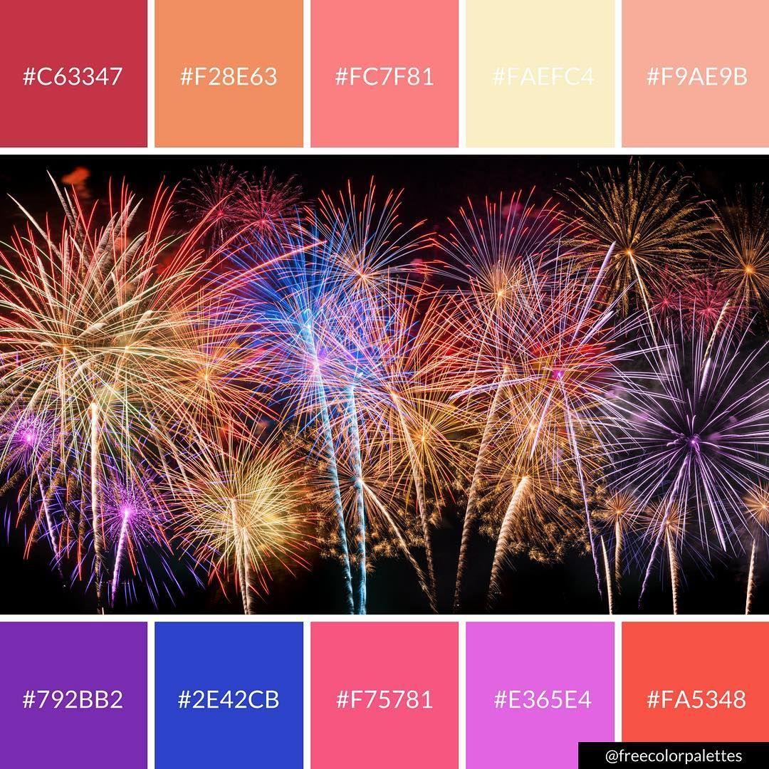 Fireworks | Festival |Color Palette Inspiration. | Digital ...