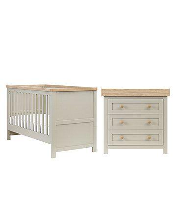 Mothercare Lulworth 2 Piece Nursery Furniture Set Grey