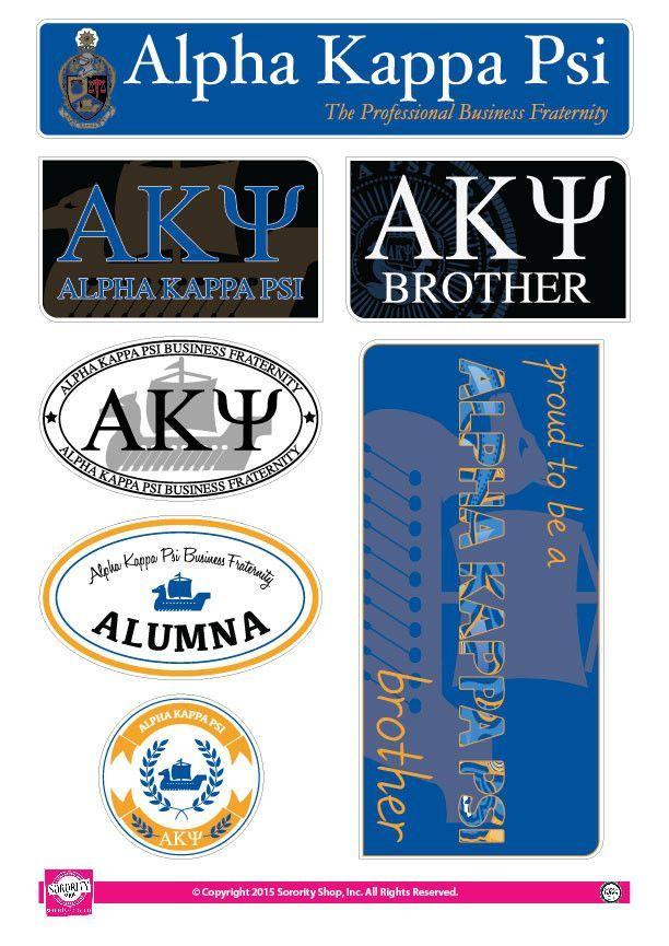 Alpha Kappa Psi Family Stickers