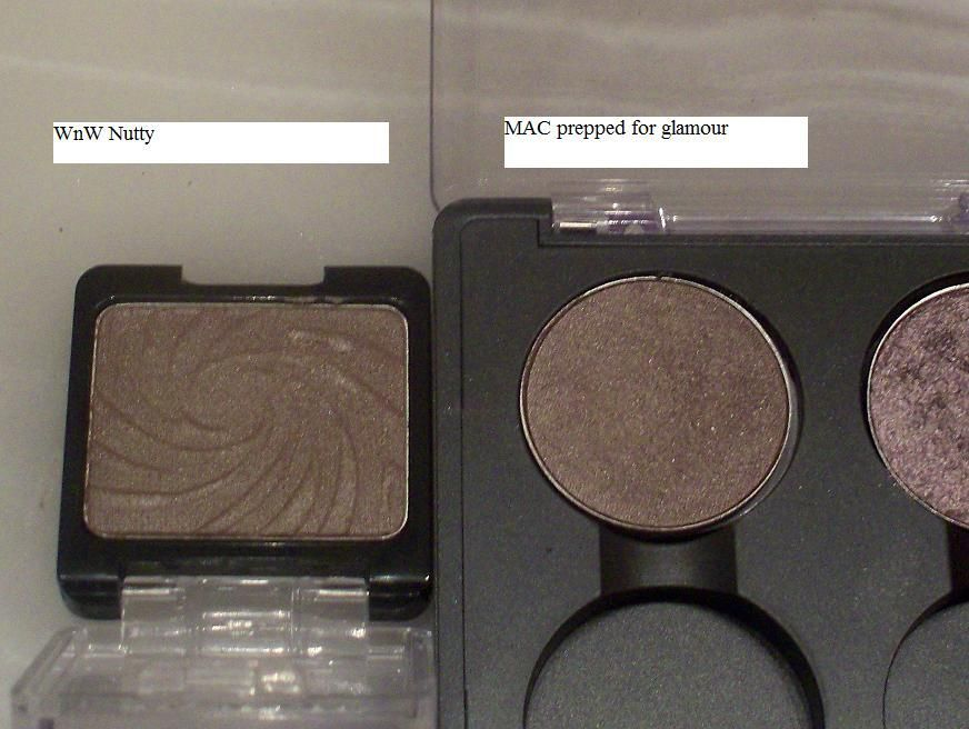 wet'N'wild icon singles eyeshadow Nutty DUPE for MAC Prepped for Glamour