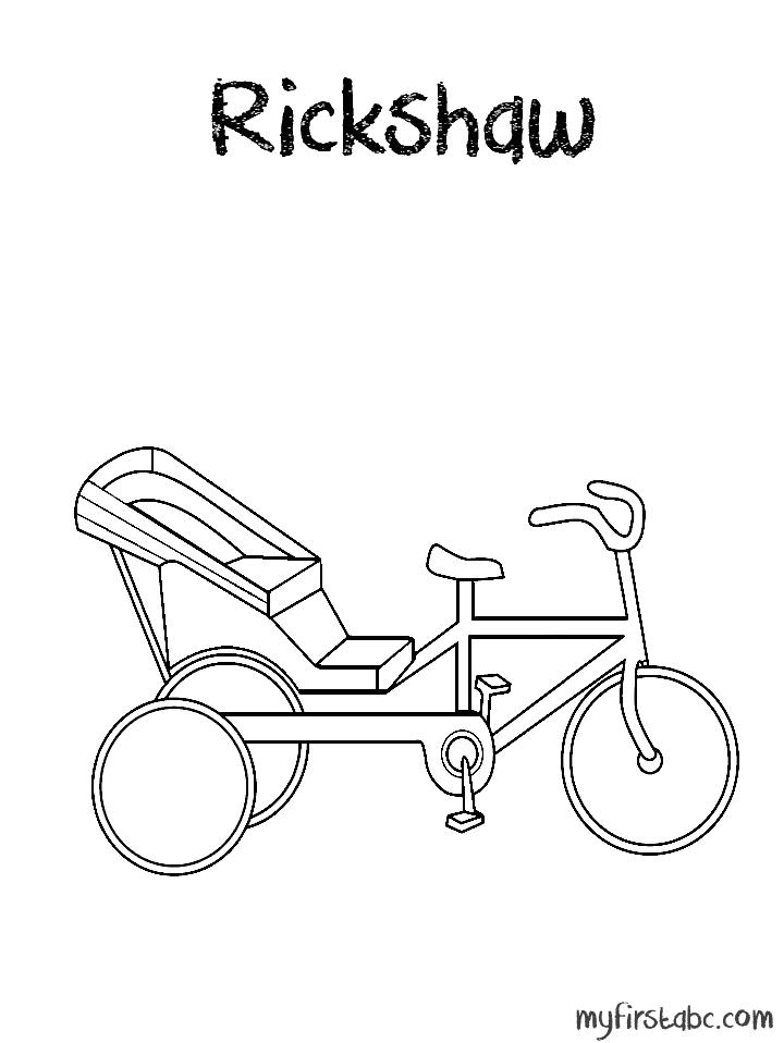 Rickshaw Rickshaw Coloring Page Summer School K Grade 1