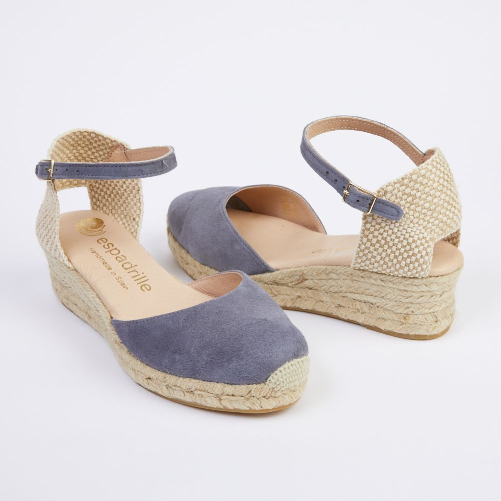 professional sale low price lower price with Slate Grey Wedge Espadrilles - Low Wedge | Clothing that is ...