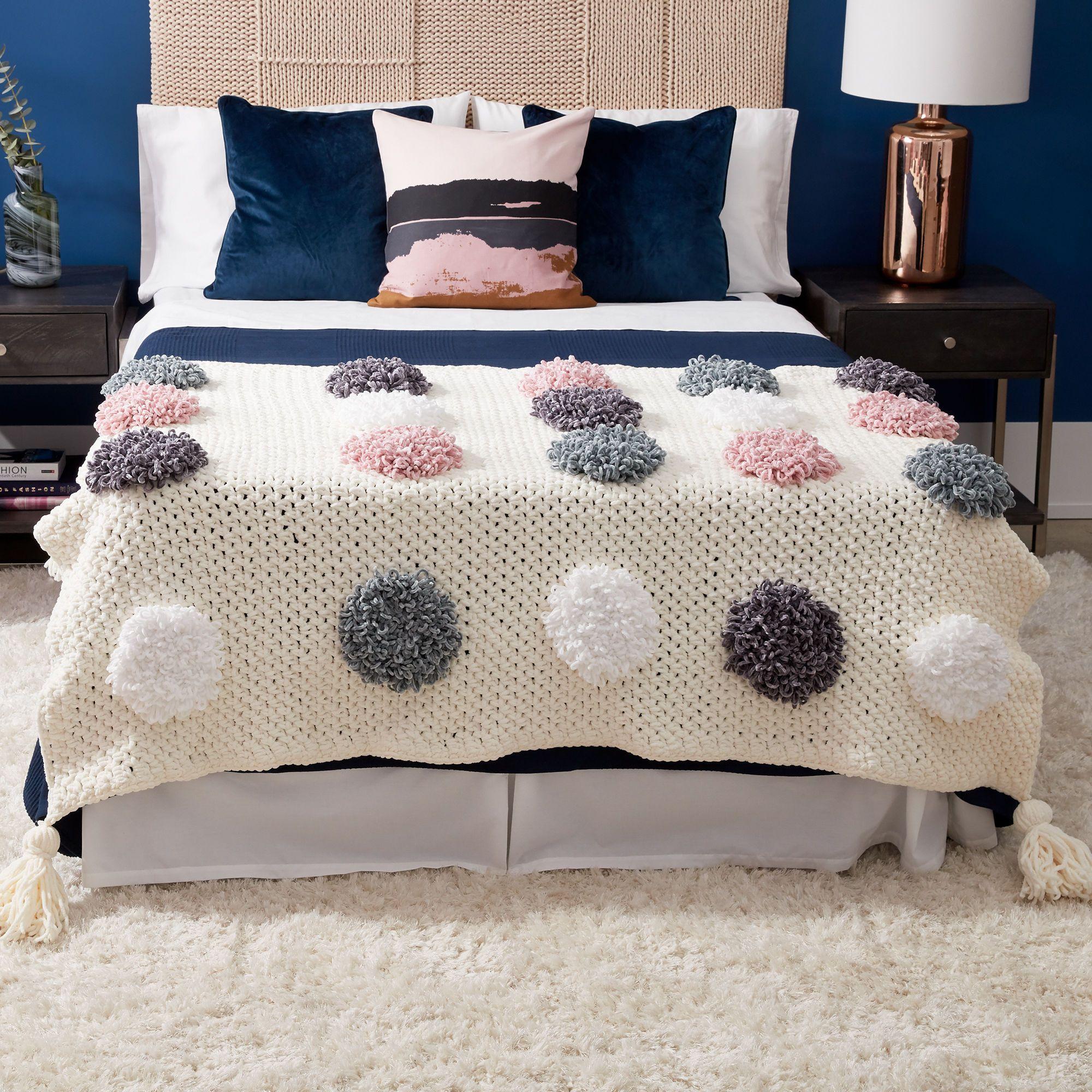 Bernat Loopy Dots Crochet Blanket Pattern | Yarnspirations#bernat #blanket #crochet #dots #loopy #pattern #yarnspirations