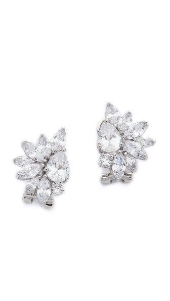 Kenneth Jay Lane Marquis Cer Pear Cz Earrings