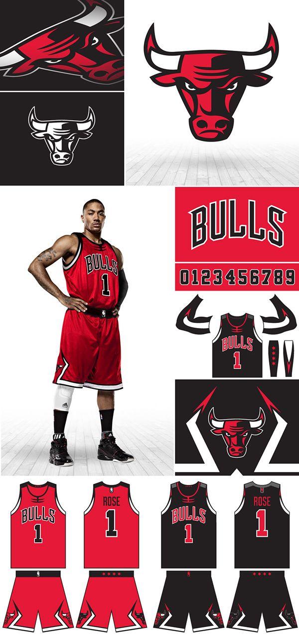 Chicago Bulls on Behance Diseño de uniforme