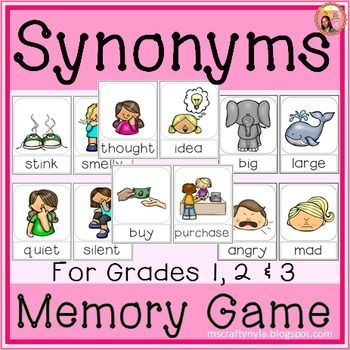 Synonyms - Memory Game or Flip book Language arts, Art lessons - synonym for resume
