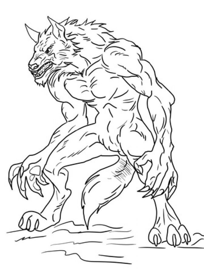 Ben 10 Werewolf Coloring Page Free Printable For Kids Monster