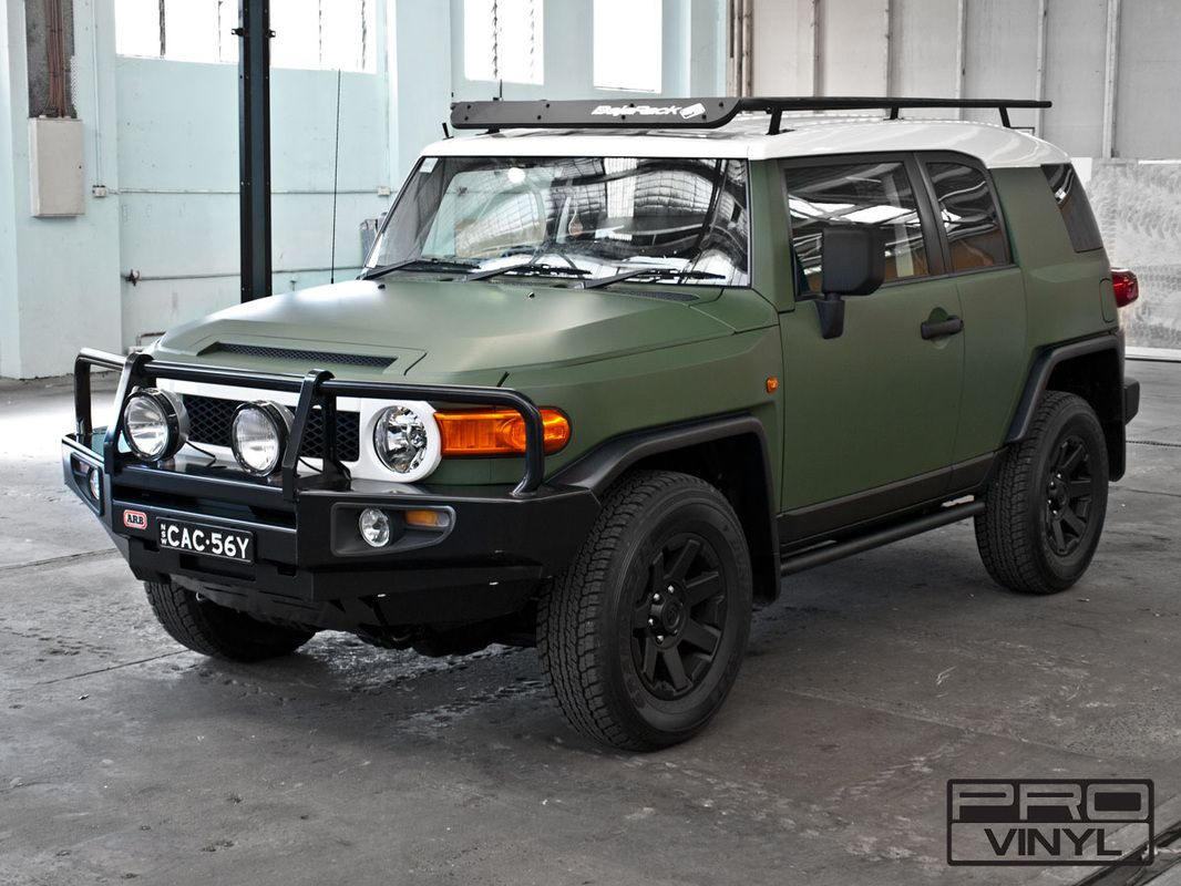 Matte military green wrap for Toyota FJ Cruiser Sydney