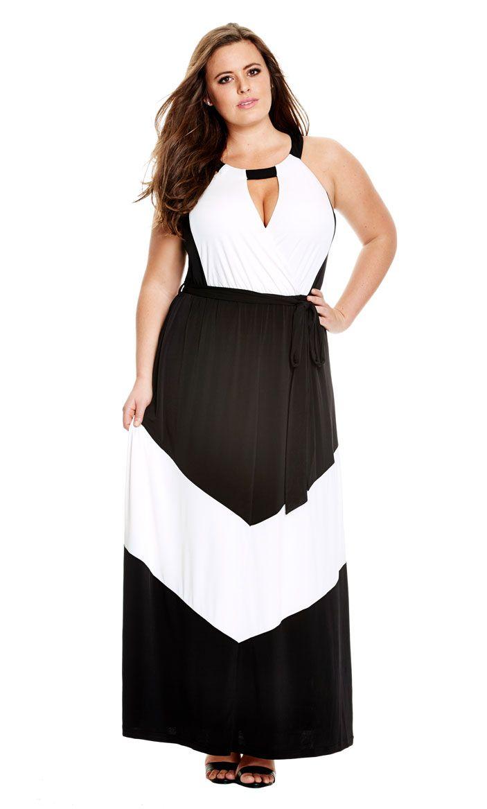 3969bf175ec8 City Chic Mono Goddess Maxi Dress - Women's Plus Size Fashion City Chic
