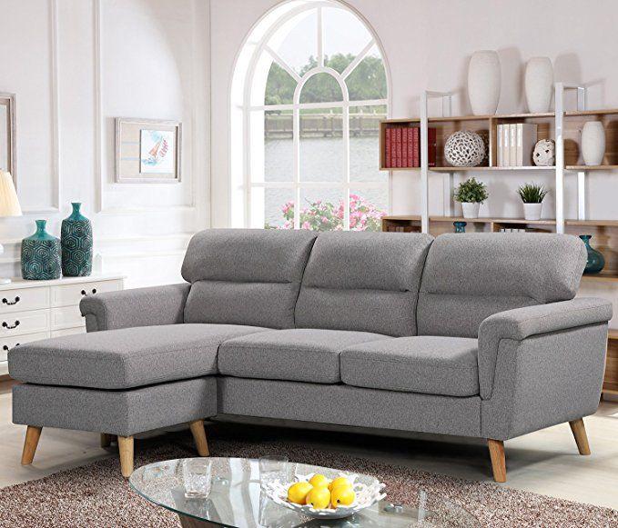 Harper Bright Designs Modern Linen Fabric Sectional Sofa L Shape