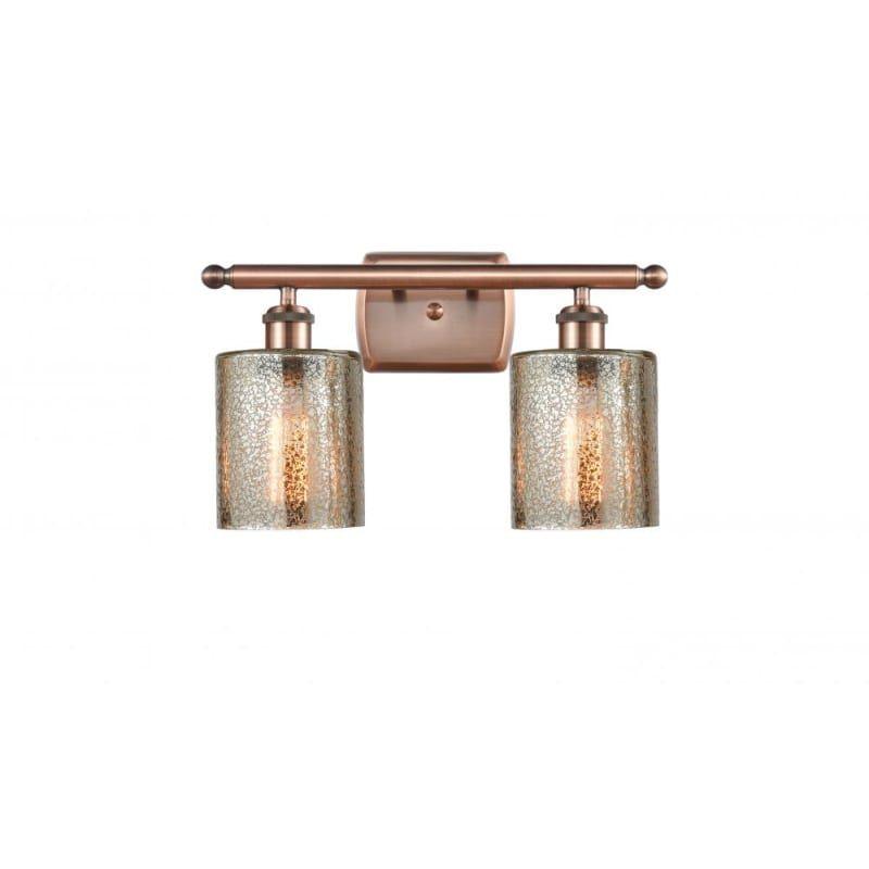 Photo of Innovations Lighting 516-2W Cobbleskill Cobbleskill 2 Light 16″ Wide Bathroom Va Antique Copper / Mercury Indoor Lighting Bathroom Fixtures Vanity