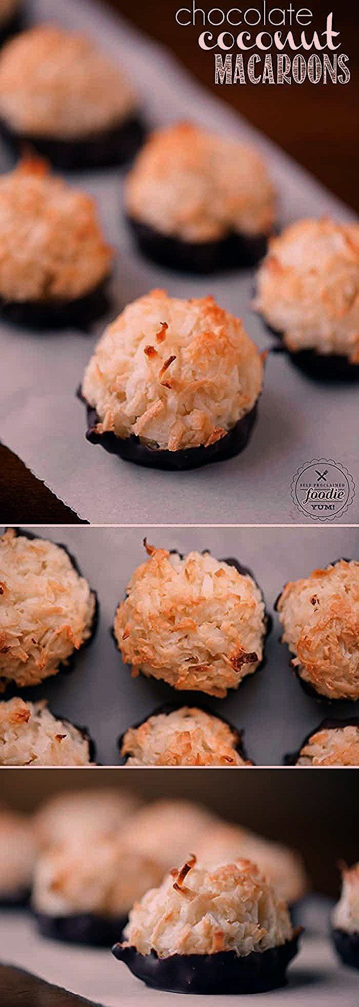 Coconut Macaroons are a super easy toasted coconut cookie recipe made with a secret ingredient that gives them great flavorChocolate Coconut Macaroons are a super easy to...
