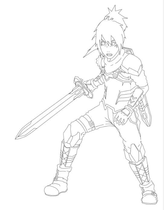 Art Online Kirito Coloring Pages