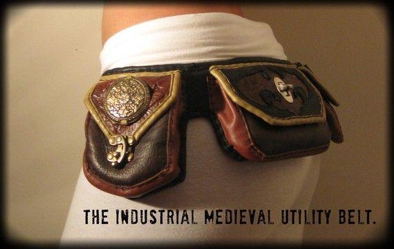 Gypsy Medieval Industrial Steam Punk Utility Belt