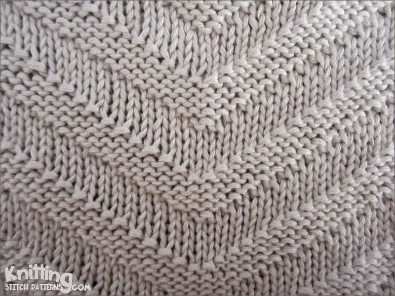 Knitting Decreases Purl Stitch : Simple knit and purl combinations v shaped stitch
