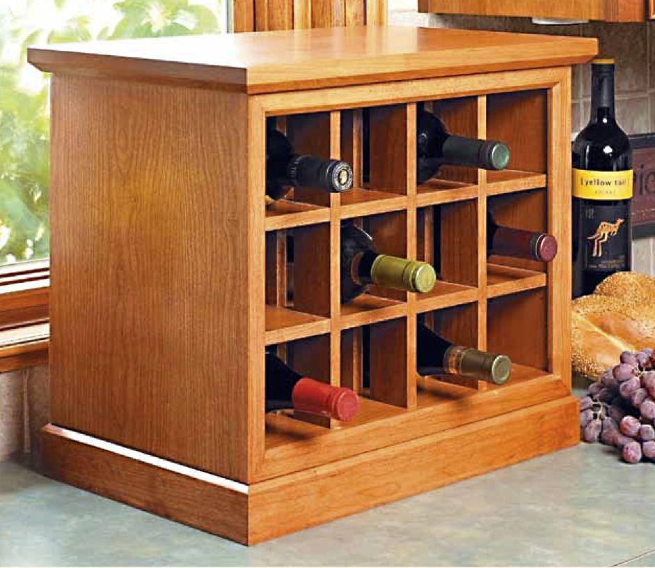 Countertop Wine Rack Design From Woodsmith Magazine Woodworking