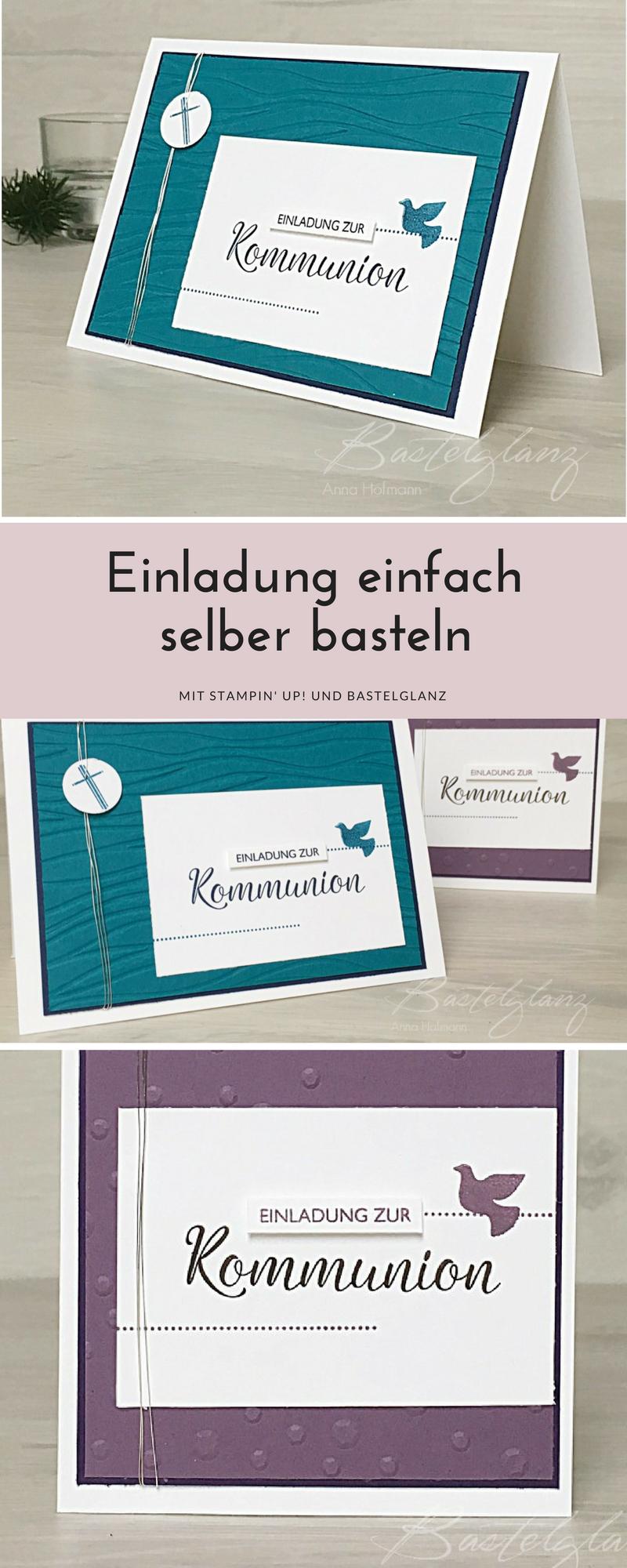 Kommunionkarten Basteln Für Junge Und Mädchen Mit Stampin