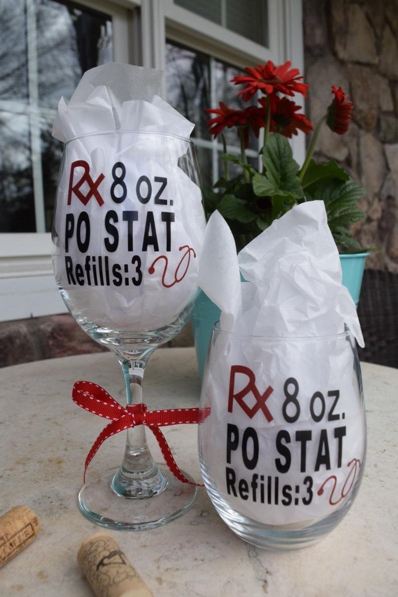 Nurses week appreciation gift nurse wine glass nurse