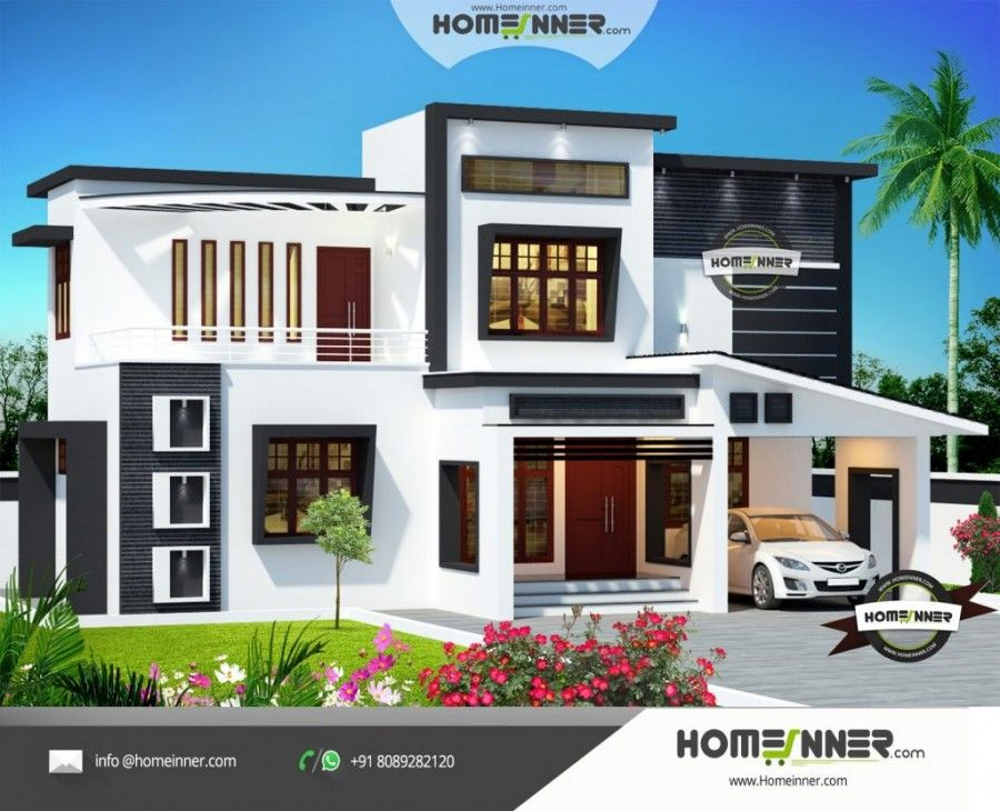 1607 sq ft 3 bedroom normal house front elevation designs free