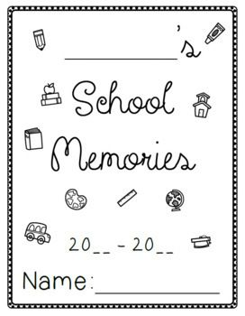 End of Year Memory Book and Activities by Just Write