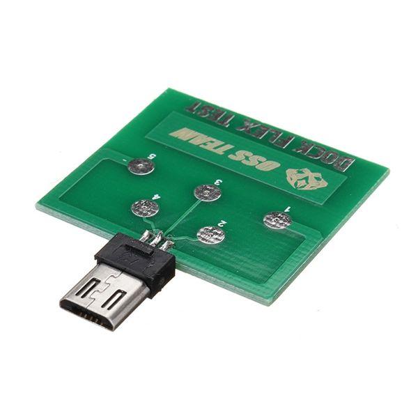 Módulo de placa de prueba PCB micro USB de 5 pines para Android Batería Dock Flex Power de prueba de carga