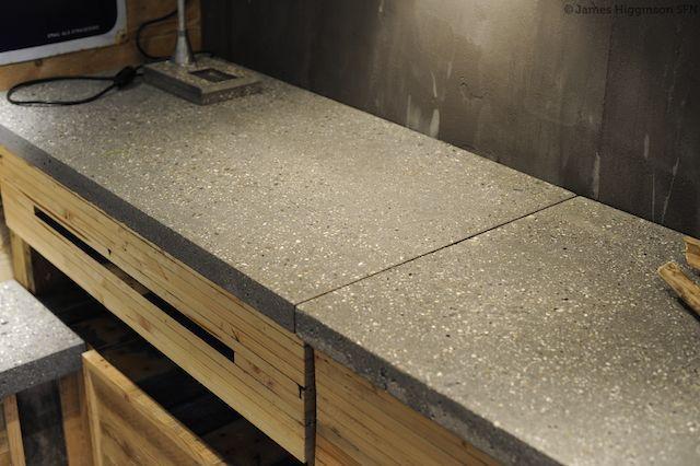 making a polished concrete worktop how to survive. Black Bedroom Furniture Sets. Home Design Ideas
