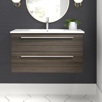 "Thomson 36"" Wall-Mounted Single Bathroom Vanity Set 