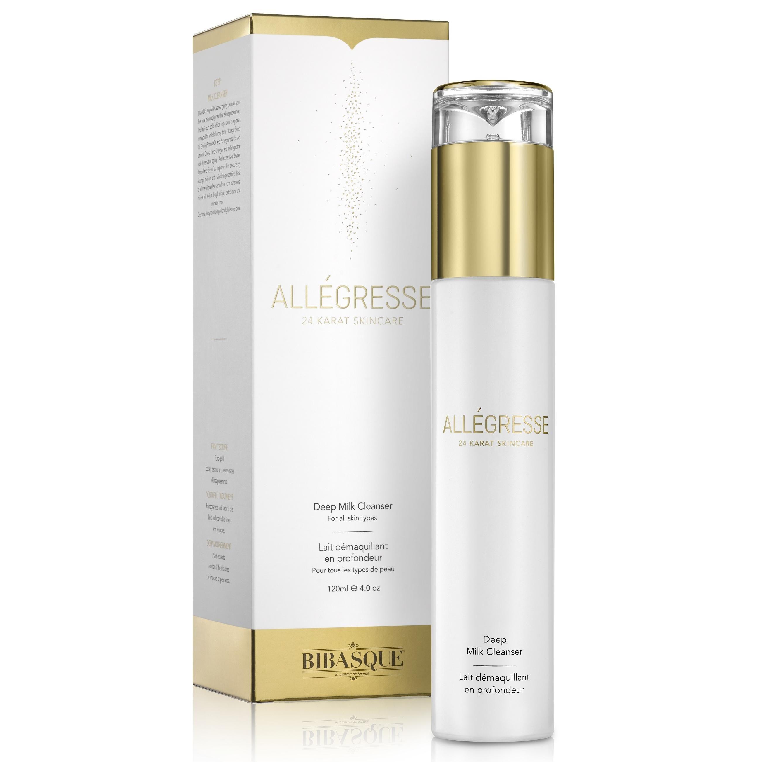24K Gold Deep Milk Cleanser Facial gel, Milk cleanser
