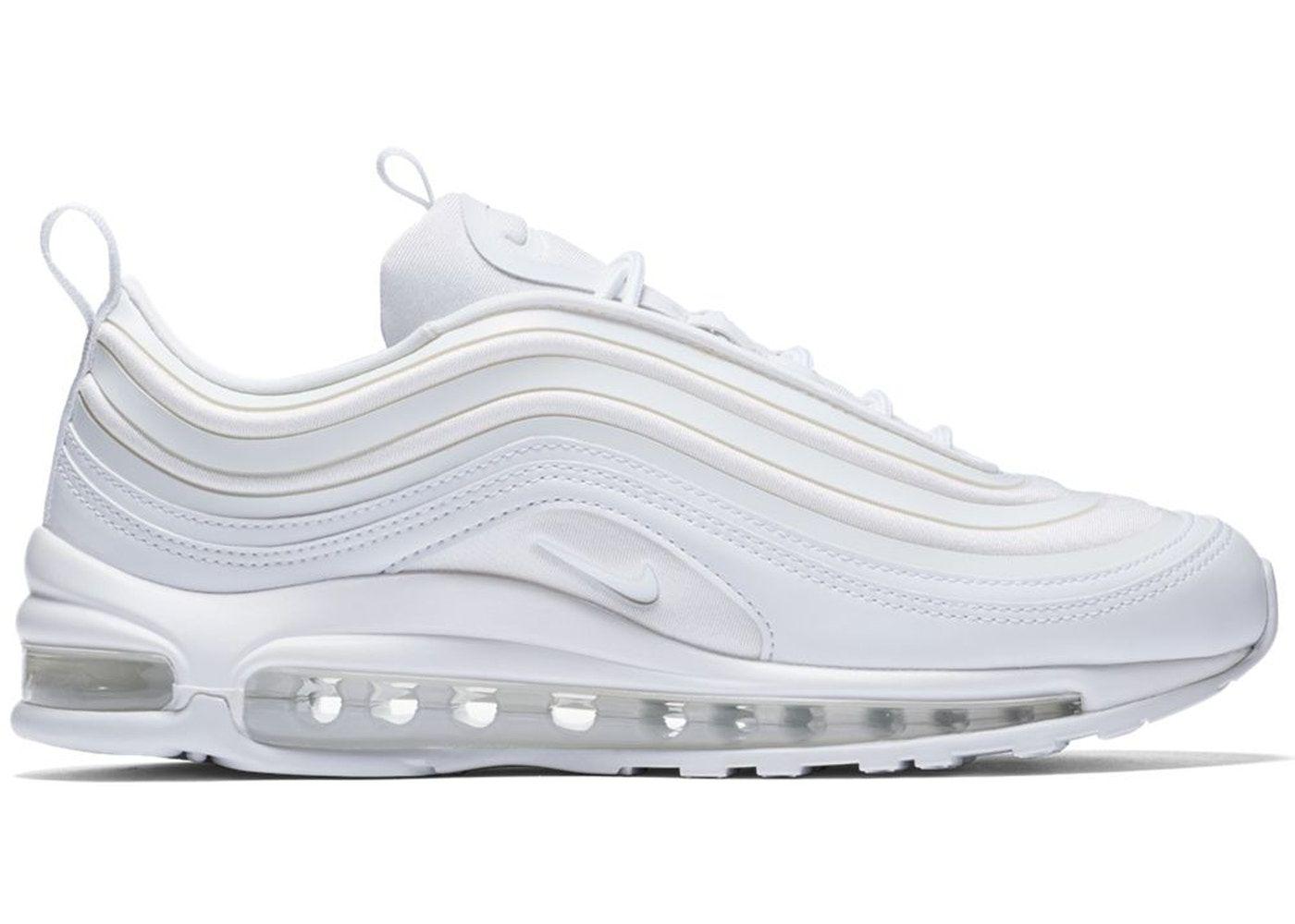 Controversia franja Típicamente  Nike Air Max 97 Ultra 17 Triple White (W) in 2021 | White nike tennis shoes,  Nike air max, Nike air max 97