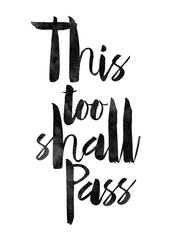 This Too Shall Pass Poster Watercolor By