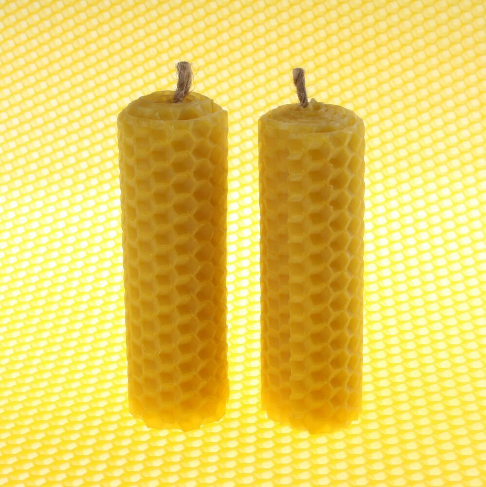 Lot Of 2 Thick Beeswax Candles 35 Honeycomb Handrolled 100 Pure Sweet Wax M Fashion Home Gard Beeswax Candles Natural Candle Wicks Beeswax Taper Candles