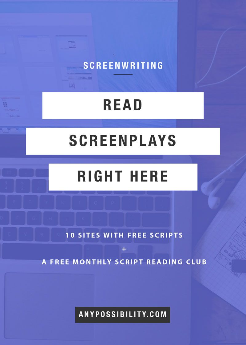 10 resources to read screenplays online for free tv digital